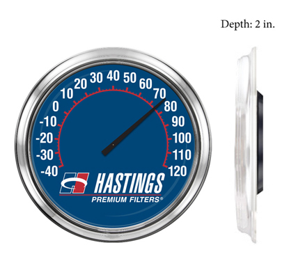Model 1600T. This is a 16 inch thermometer with a custom logo printed onto the thermometer face.