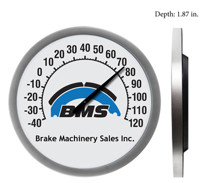 "18"" Thermometer with custom logo imprint. Order an 18 inch theremometer for your company."